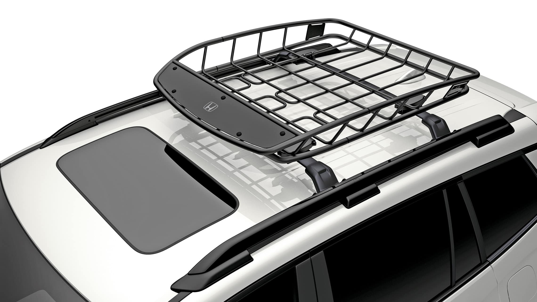 Detail of accessory roof basket on the 2019 Honda Passport