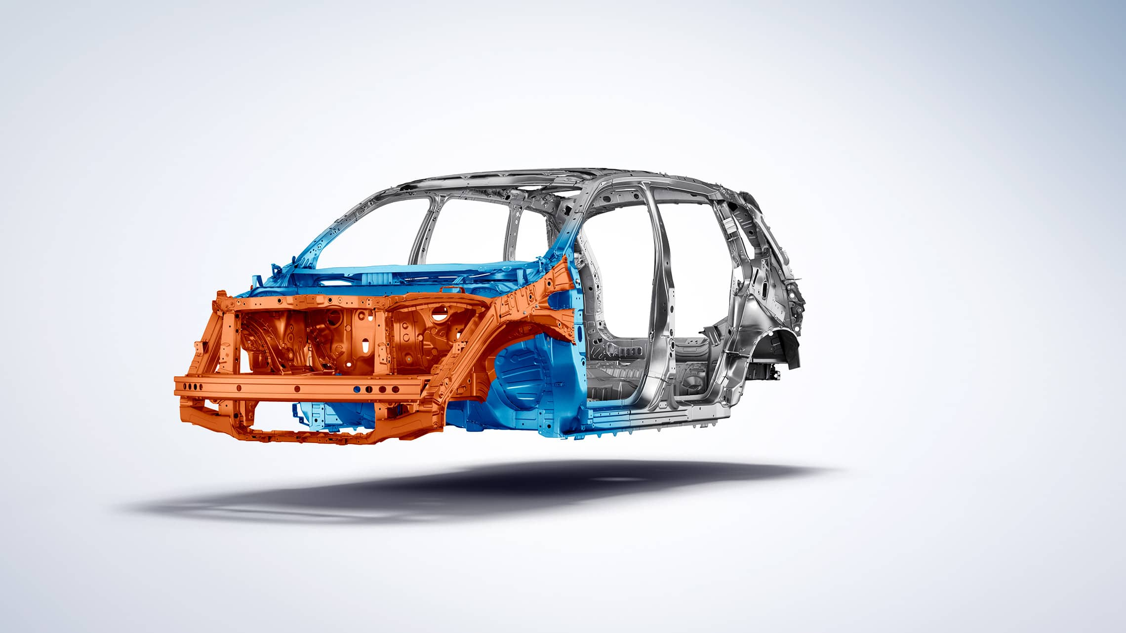 Driver-side 3/4 front cutaway view of 2019 Honda Passport with Advanced Compatibility Engineering™ body structure.