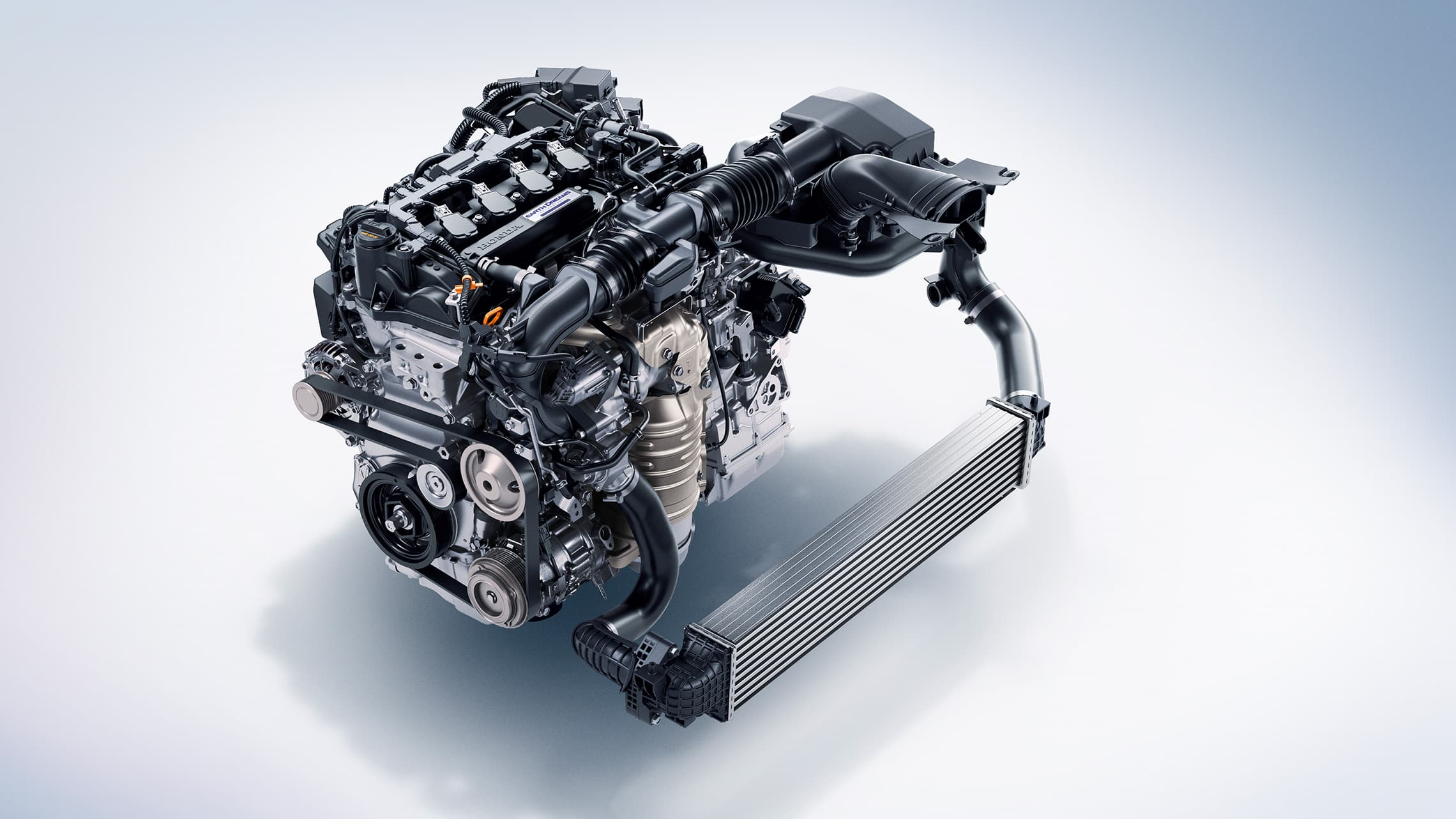 1.5-liter turbocharged engine detail on the 2020 Honda Accord.