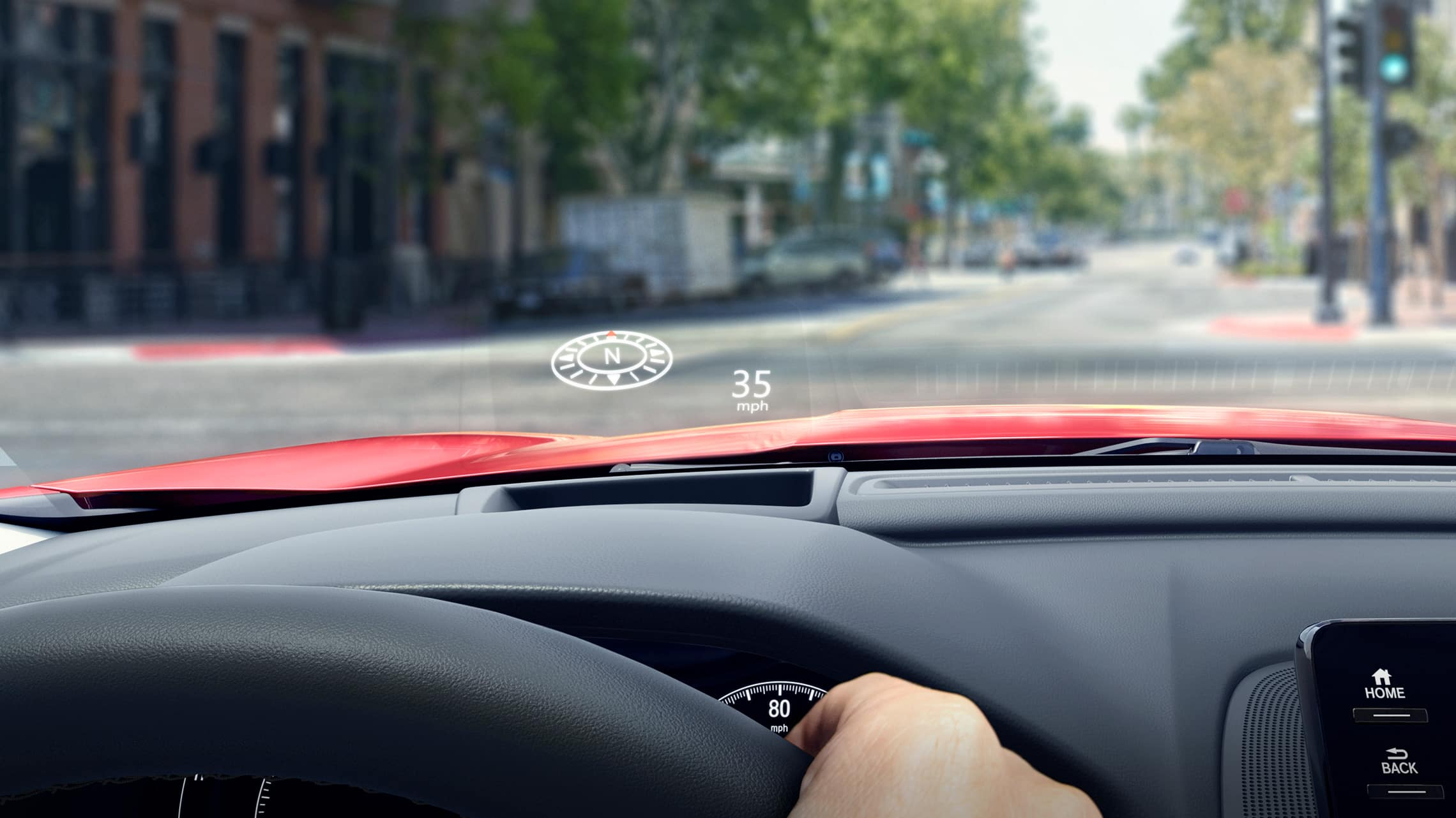Head-Up Display detail in the 2021 Honda Accord Touring 2.0T.