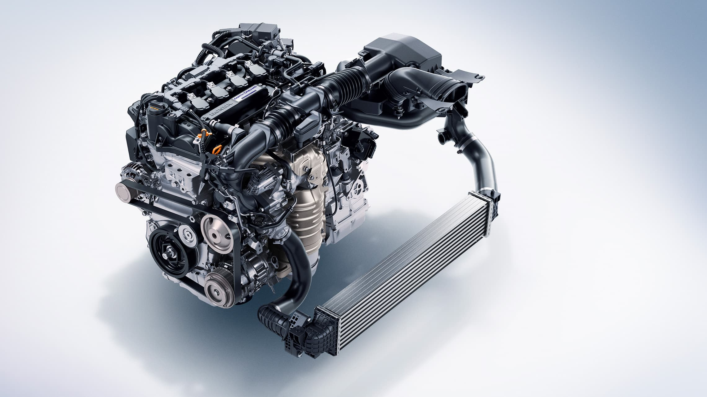 1.5-liter turbocharged engine detail on the 2021 Honda Accord.
