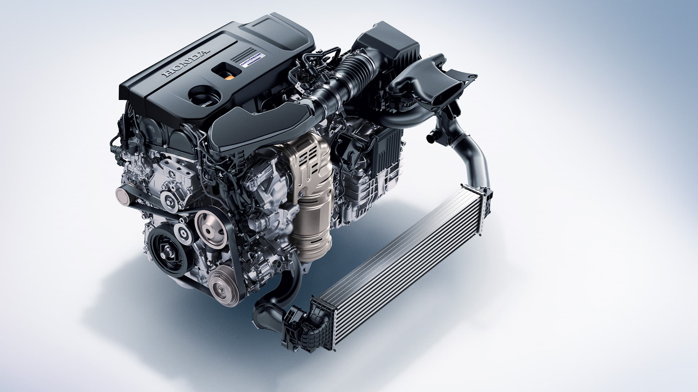 2.0-liter turbocharged engine detail on the 2021 Honda Accord.